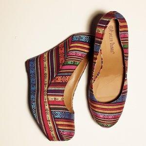 PIERRE DUMAS Platform Wedge Heeled shoes
